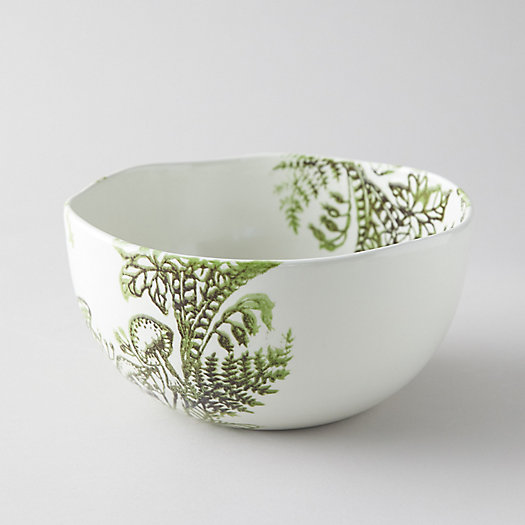 View larger image of Fern + Mushroom Serving Bowl