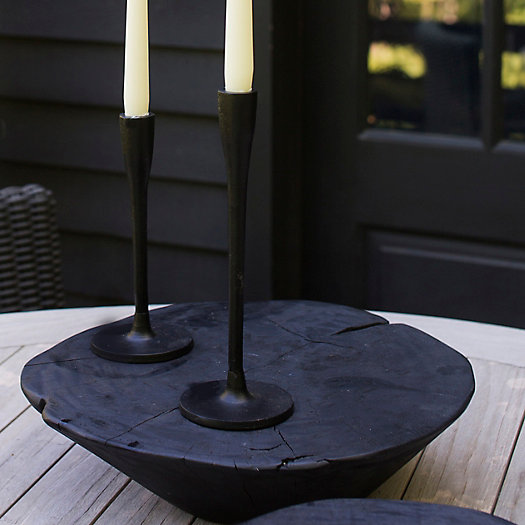 View larger image of Matte Black Candlestick