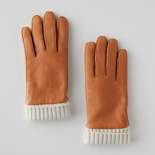 View larger image of Leather + Wool Gloves