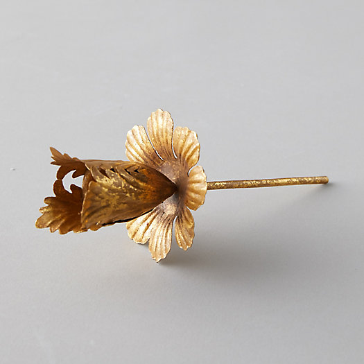 View larger image of Gold Flower Staked Taper Holder
