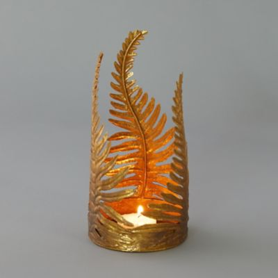 Gold Fern Votive Holder