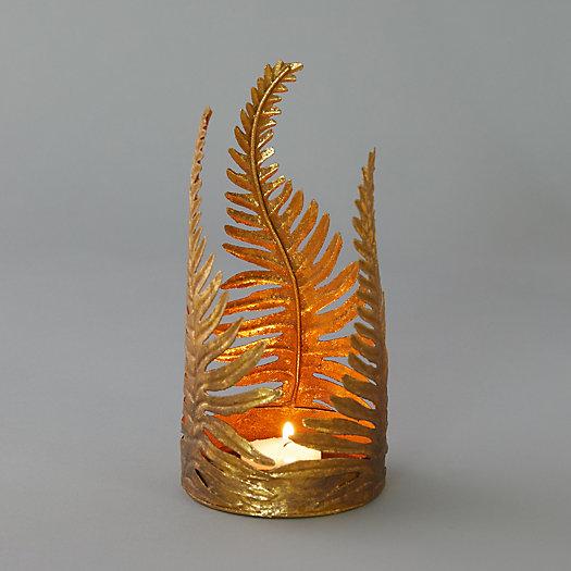 View larger image of Gold Fern Votive Holder