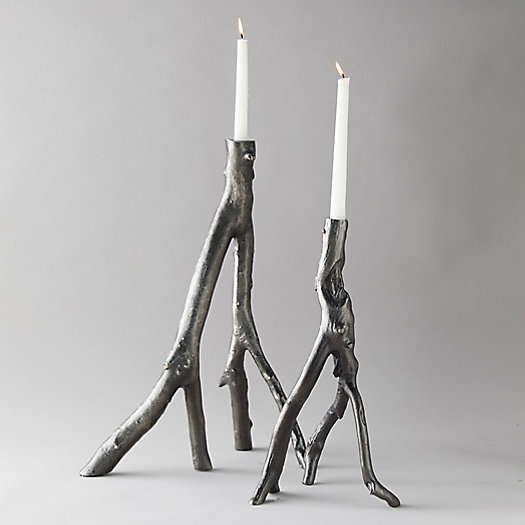 View larger image of Cast Aluminum Branch Candle Holder