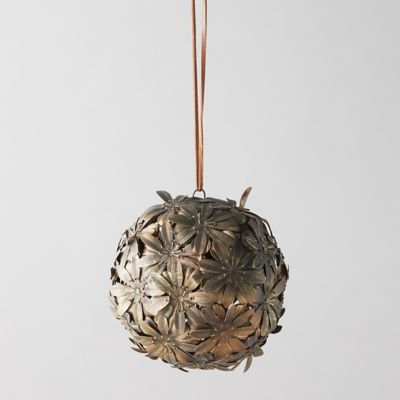 Hanging Iron Floral Sphere