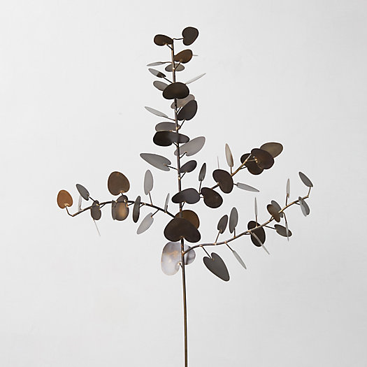 View larger image of Antiqued Brass Eucalyptus Leaf Branch