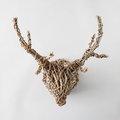 Round Vine Stag Wall Hanging