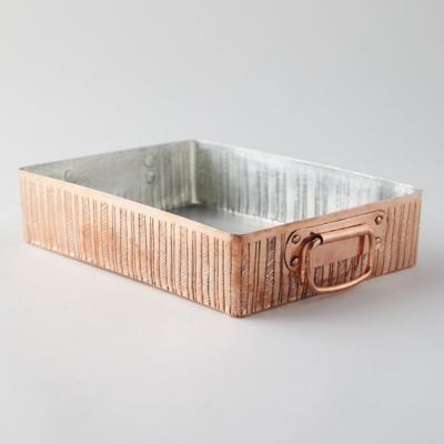 Engraved Copper Roasting Pan