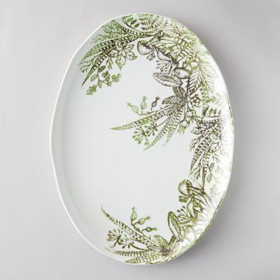Fern + Mushroom Serving Plate