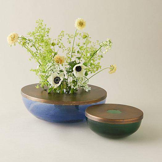 View larger image of Metallic Top Low Profile Bouquet Vase