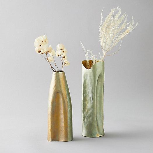 View larger image of Hammered Brass Vase