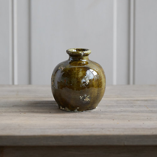 View larger image of Antiqued Moss Ceramic Vase