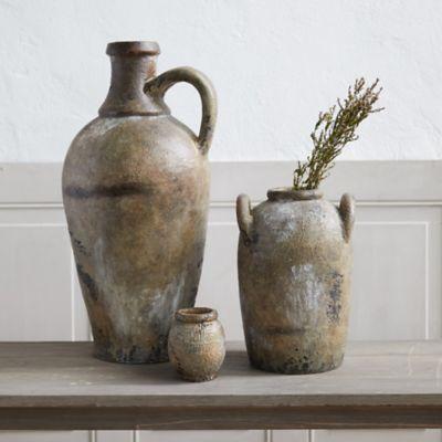 Antiqued Ceramic Vase