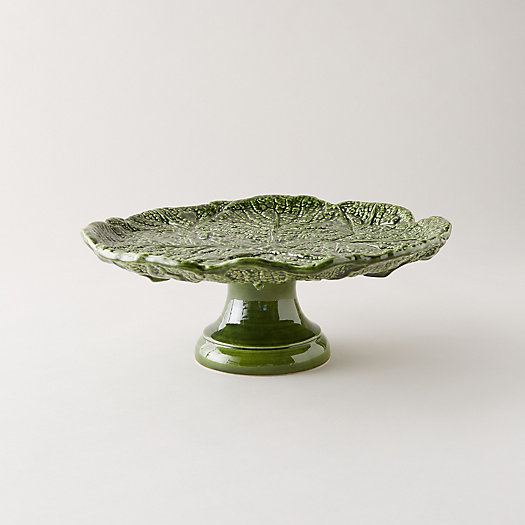 View larger image of Kale Leaf Cake Stand