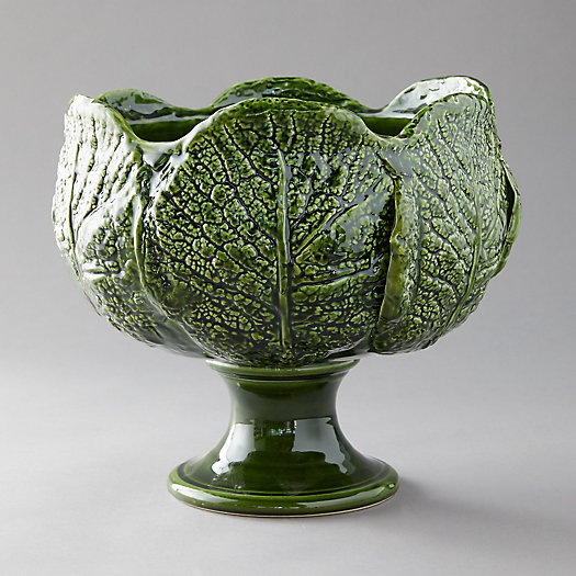 View larger image of Kale Leaf Footed Serving Bowl