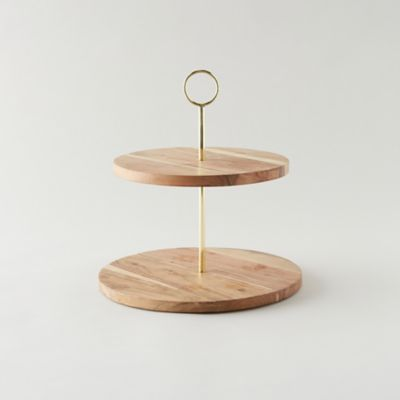 Acacia Wood Tiered Serving Stand