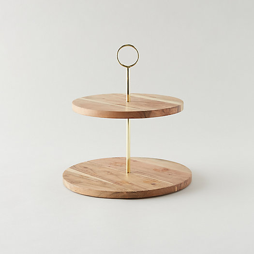 View larger image of Acacia Wood Tiered Serving Stand