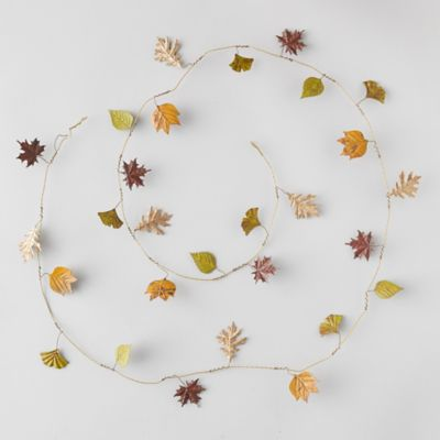 Pressed Metal Autumn Leaves Garland