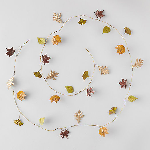 View larger image of Pressed Metal Autumn Leaves Garland