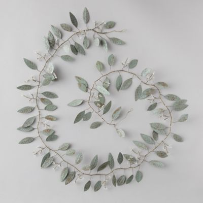 Pressed Metal Eucalyptus Garland