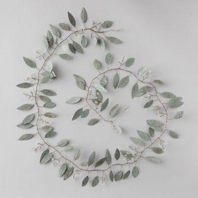 Pressed Metal Eucalyptus Garland