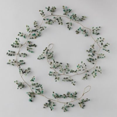 Green Quartz Stone Garland