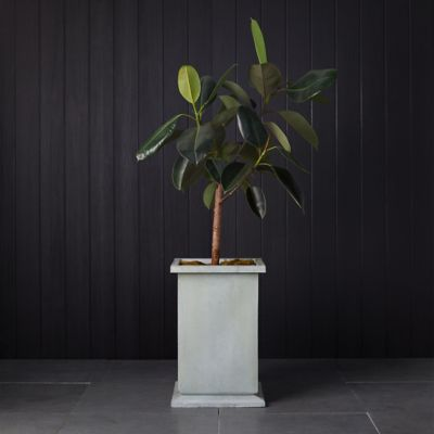 Low Footed Antiqued Steel Planter