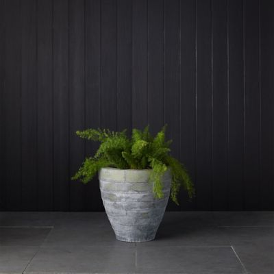 Antiqued Steel Bowl Planter