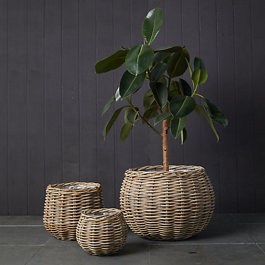 View larger image of Rattan Basket Planter