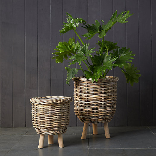 View larger image of Rattan Footed Basket Planter