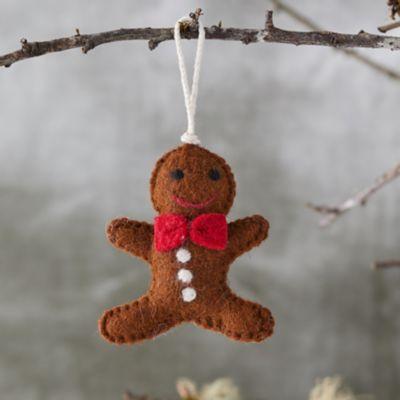 Gingerbread Man Felt Ornament
