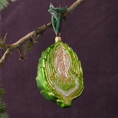 Artichoke Glass Ornament
