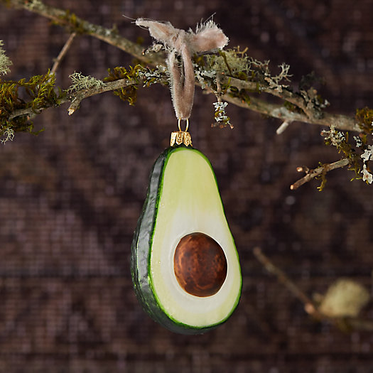 View larger image of Avocado Glass Ornament