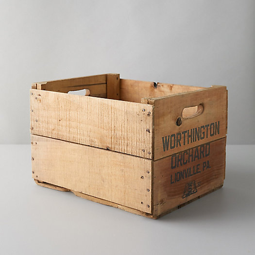 View larger image of Vintage Wood Apple Crate