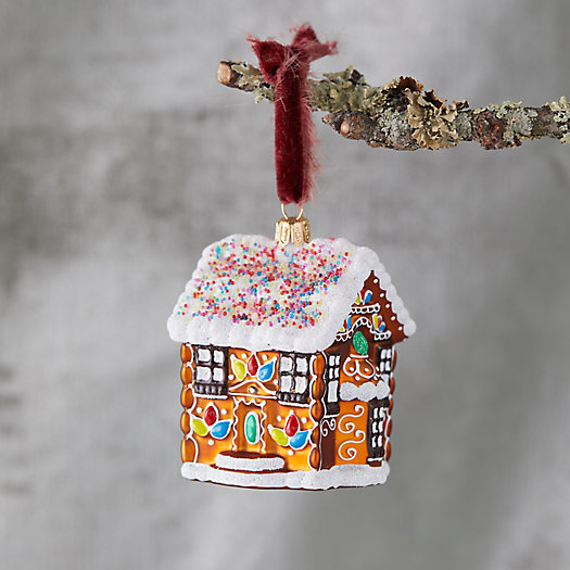 View larger image of Gingerbread House Glass Ornament
