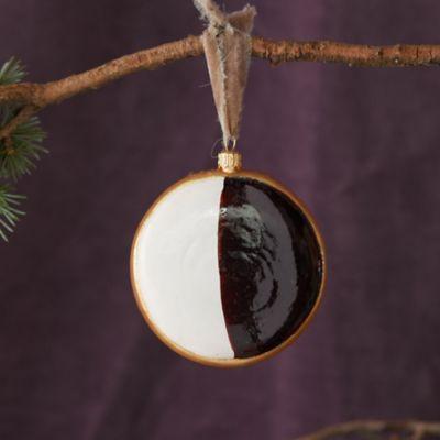 Black + White Cookie Glass Ornament