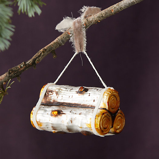 View larger image of Birch Logs Glass Ornament