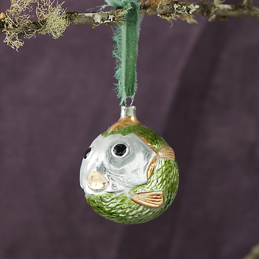 View larger image of Blowfish Glass Ornament