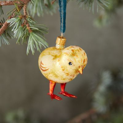 Chickie Glitter Glass Ornament