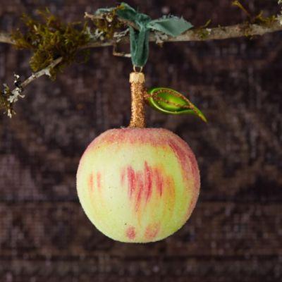 Crisp Apple Glitter Glass Ornament