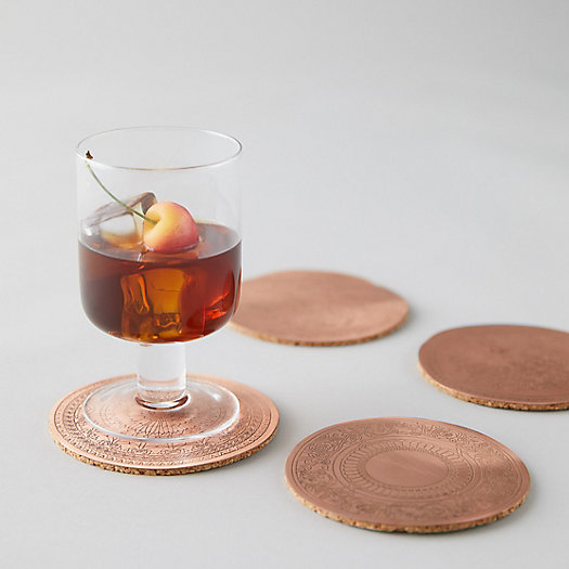 View larger image of Copper + Cork Coaster Set