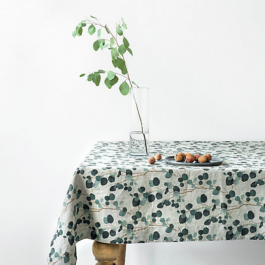View larger image of Eucalyptus Linen Tablecloth