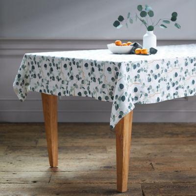 Lithuanian Linen Tablecloth, Eucalyptus
