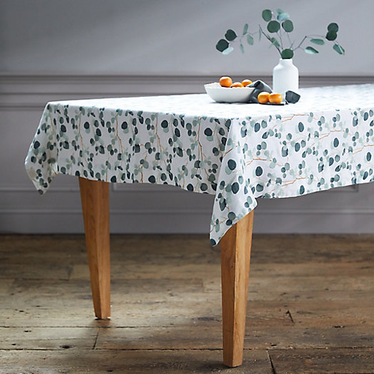 View larger image of Lithuanian Linen Tablecloth, Eucalyptus