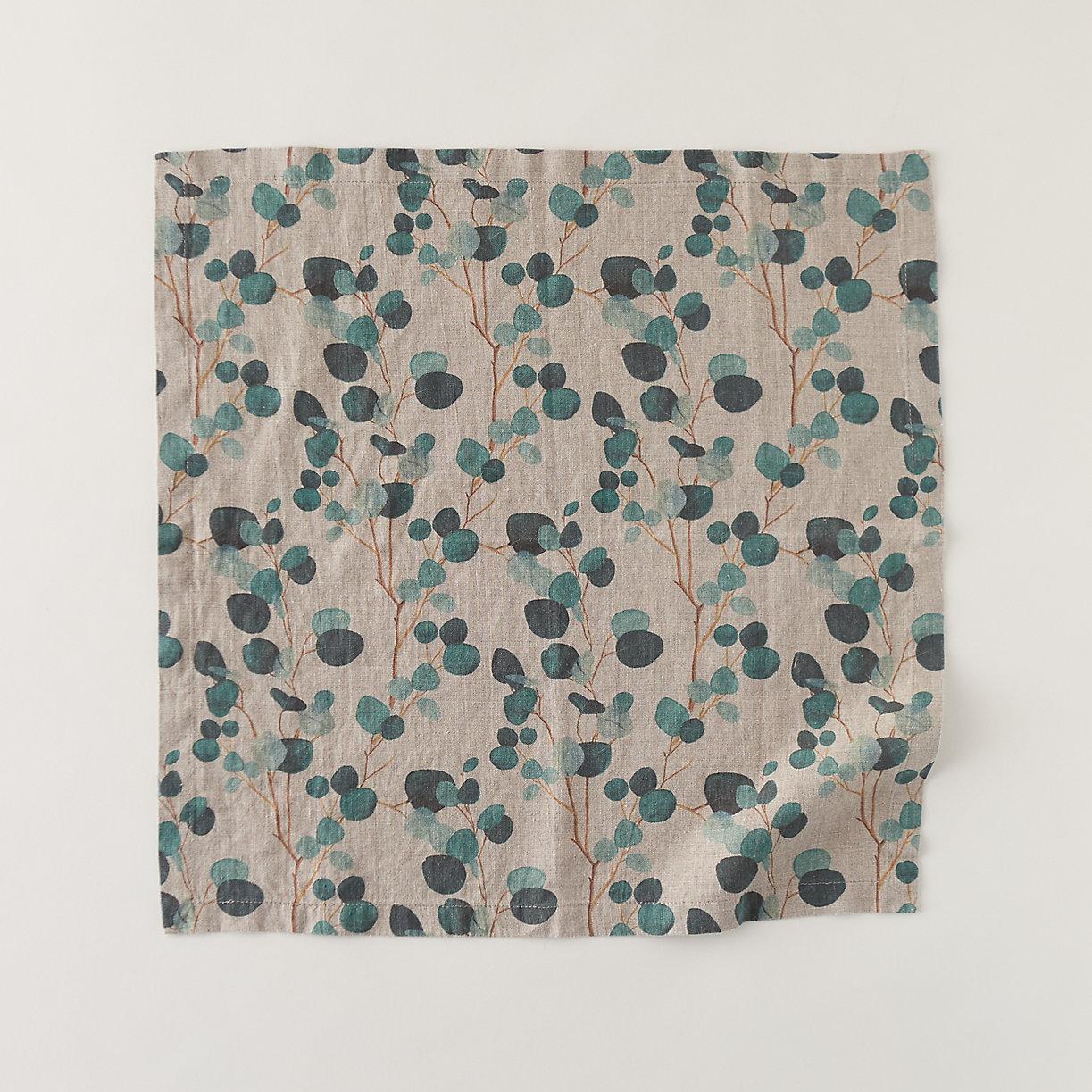 Eucalyptus Linen Napkin Set, Natural