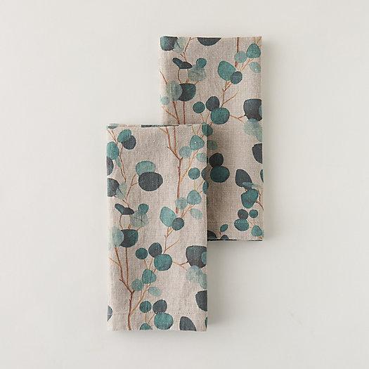 View larger image of Eucalyptus Linen Napkin Set, Natural