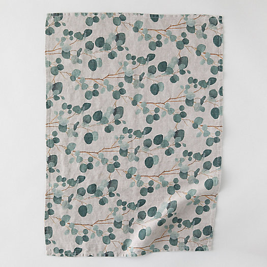 View larger image of Lithuanian Linen Tea Towel, Eucalyptus