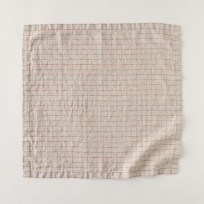 Lithuanian Linen Napkin, Stonewash Check