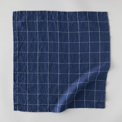 Lithuanian Linen Napkin, Windowpane