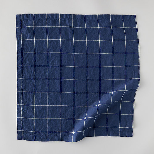 View larger image of Lithuanian Linen Napkin, Windowpane
