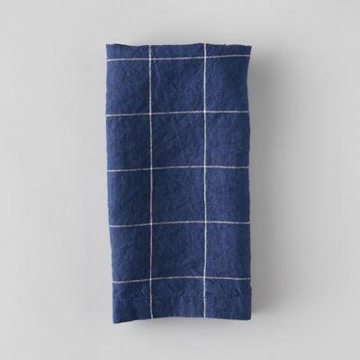 Lithuanian Linen Napkin, Windowpane